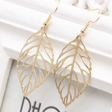 Star Jewelry SALE wholesale for women 2015 new design fashion earring Alloy leaves Dangle Drop Earrings free shipping hot sale(China (Mainland))