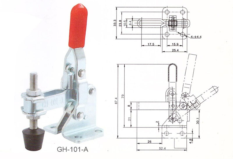 GH-301AM Toggle Clamp Holding Latch 45kg Push Pull Quick Release Hand To RAS