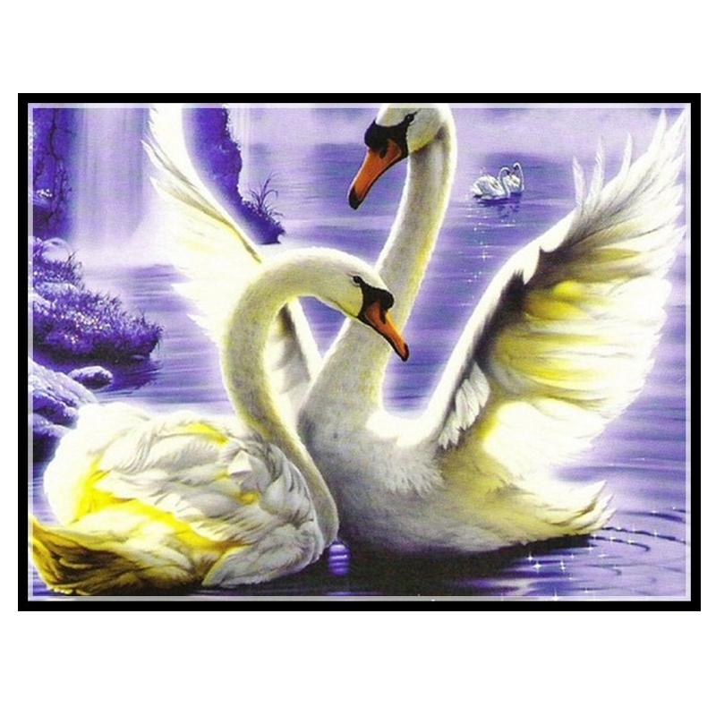 Embroidery,Diamond mosaic,DIY 5D Diamond painting,3D Diamond stitch,Diamond Embroidery Pattern Rhinestone cute Swan Cross Stitch(China (Mainland))