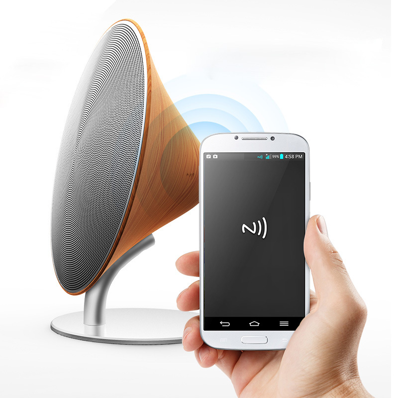 2015 New Arrival Wooden Bluetooth Speaker Surround Sound Touch NFC Wireless Blutooth Altavoces For MP3 Free Shipping Solo One