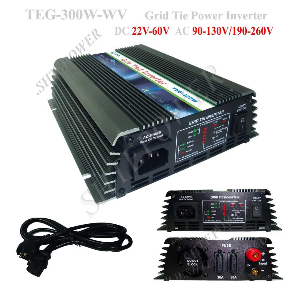 Grid Tie Solar Inverter 300w With for 22V-62V Solar Panel