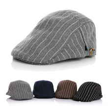 Kid Unisex Boy Girl Hat Stripe Beret Cap Driving Flat Newsboy Casual Classic Children Berets New Fashion Buckle Hat Wholesale(China (Mainland))