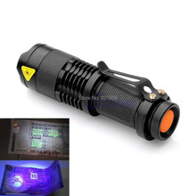 B39 2015 newest Mini Portable UV Ultra LED Flashlight Violet Purple Blacklight Torch Lamp Light free shipping(China (Mainland))