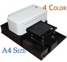 Free Shipping A4 Size Digital Flatbed Printer For Phone Cover Fabric Wood Leather PVC Etc(China (Mainland))