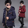 2016 new Children Boys quality cotton padded jacket for boys 4 13 year baby boys winter