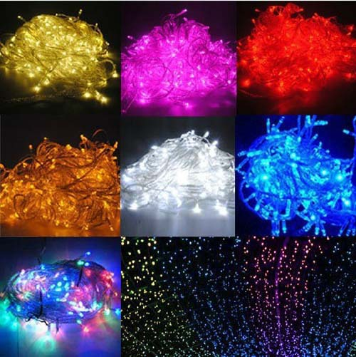 Luminarias10M 100 SMDs LED Christmas lights Wedding Party Garden decoracao Fairy Light EU/UK/US/AU plug(China (Mainland))