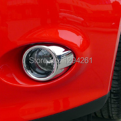 Russia Free Shipping New Brand Chrome Front Fog Light Lamp Cover Trims For Ford Focus 2013 CDgFMh(China (Mainland))