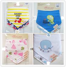3 Pcs haute qualité maman soins marque nouveau - né bébé bavoirs imperméables enfants filles et garçons coton Triangle enfants alimentation accessoires(China (Mainland))