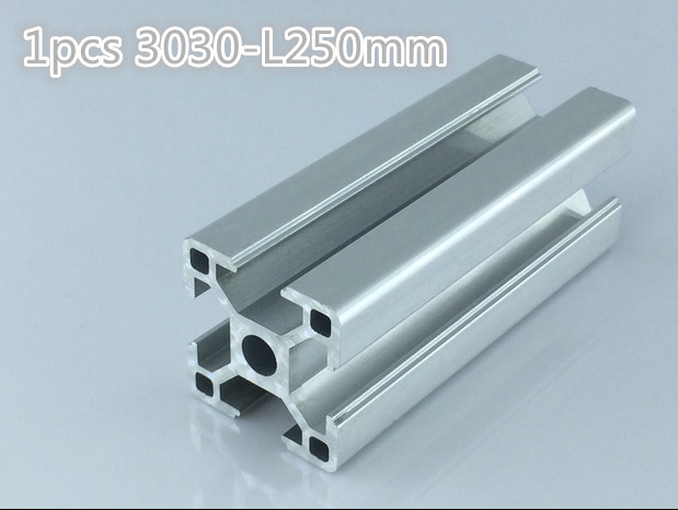 1pcs 3030 aluminum profile groove width 8 mm length 250 mm width 30mm high 30 mm industrial profile for engraving work table(China (Mainland))