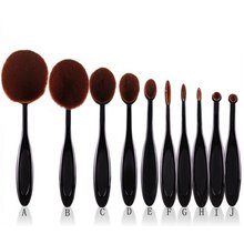 1Pro Toothbrush Shaped Eyebrow Power Foundation Face Eyeliner Lip Oval Cream Puff Brushes Makeup Beauty Tools Sets #2351 - no cool life store
