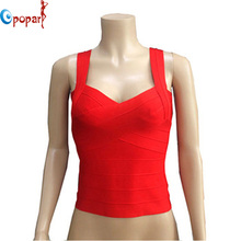 2016 women elastic stretch celebrity bandage top deep V vest multi solid colors tight cute sweet singlet drop ship HLV108(China (Mainland))