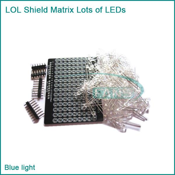 Гаджет  LOL Shield Matrix Lots of LEDs for Arduino Charlieplexed Display DIY Blue light None Электронные компоненты и материалы