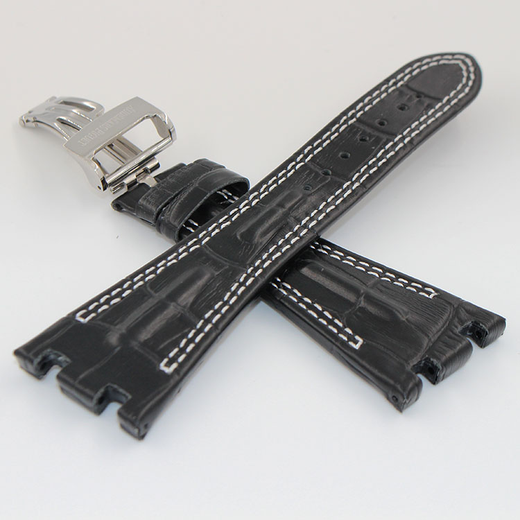 Watch band 28mm Black New Mens High Quality Genuine Leather Replacement Watch Strap Bands Bracelets<br><br>Aliexpress