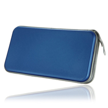 Hot Selling New 80 Disc CD DVD Carry Case Wallet Storage Holder Bag Hard Box - Blue(China (Mainland))