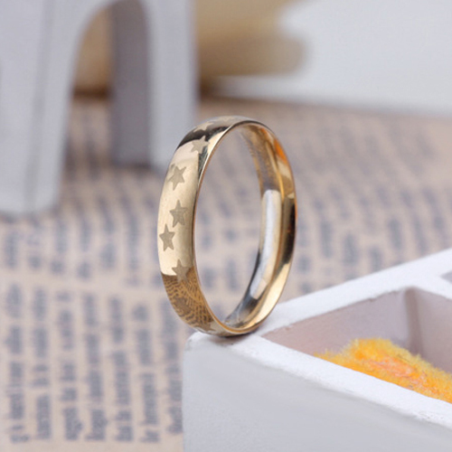 2015 fashion jewelry women summer style rings Star pattern Rose gold ring Stainless steel - Small conch store