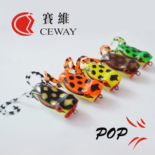Pop Frog Lure Fishing Tackles Artificial Lures Frog Baits Snakehead Killer Floating Soft 2016 Fishing Lures Soft Bait WHOLESALE