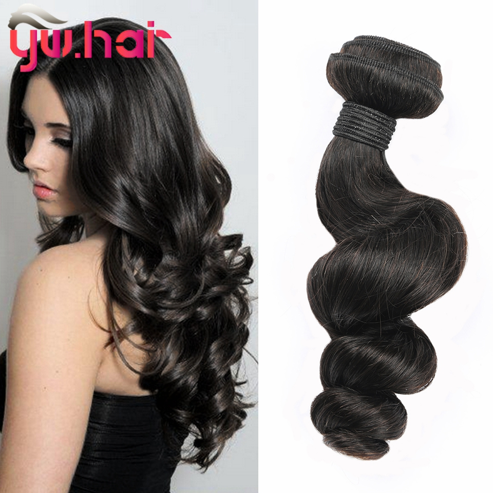 Ms Lula Hair 4 Bundles 6A Brazilian Loose Wave Virgin Hair Cheap Brazilian Hair 4 Bundles Tissage Bresilienne 8-26 Inch Hair<br>