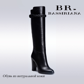 BASSIRIANA - genuine leather high boots, autumn season leather boots for women, 35-40size, free shipping