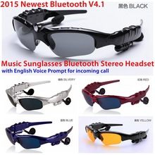 Bluetooth stereo glasses Self Bluetooth 4.1 English voice reporting sunglasses
