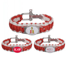 Custom Greek Letters 550 Paracord Bracelets Kappaa Alpha Psi Fraternity Adjustable Survival Bracelet