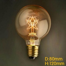 Buy G80 Edison Bulb Antique Vintage Lamp E27 40W 220V Retro Edison Bulbs five star Incandescent Filament Bulb for $6.99 in AliExpress store
