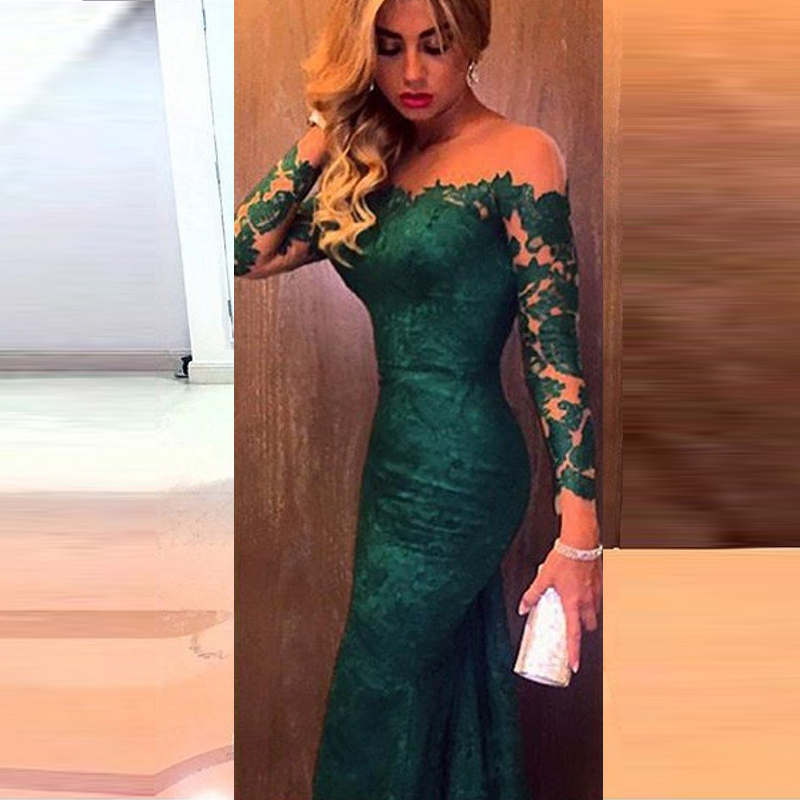 Similiar Dark Green Mermaid Prom Dress Keywords
