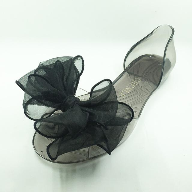 Горячая распродажа размер 4 - 9 летний стиль женской обуви сандалии красивая желе ...