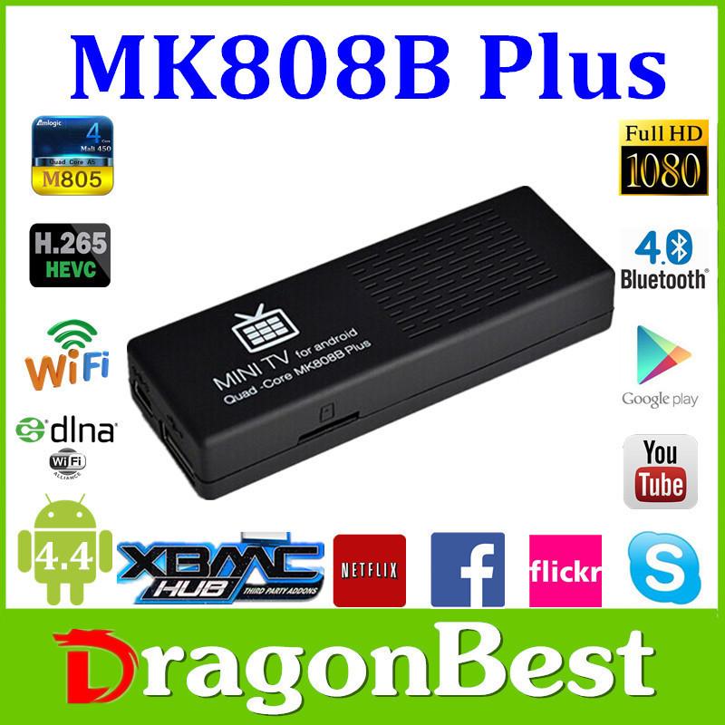 Factory Hotsale!! Mk808B Plus Amlogic S805 1.5GHz TV Stick MINI PC Quad Core 1080P Android 1G 8G ROM free shipping(China (Mainland))
