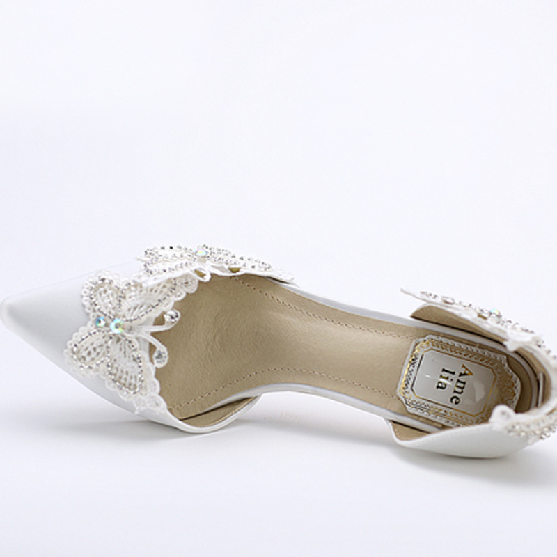 White Slingback Wedding Shoes