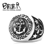 New arrival!Super Anchors Hot Jewelry 316L Stainless Steel Man's 2014 Fashion Ring Free Shipping