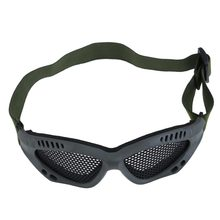 Brand new Army Green Tactical Airsoft Steel Mesh Eyes Protective Goggles Glasses 3G#