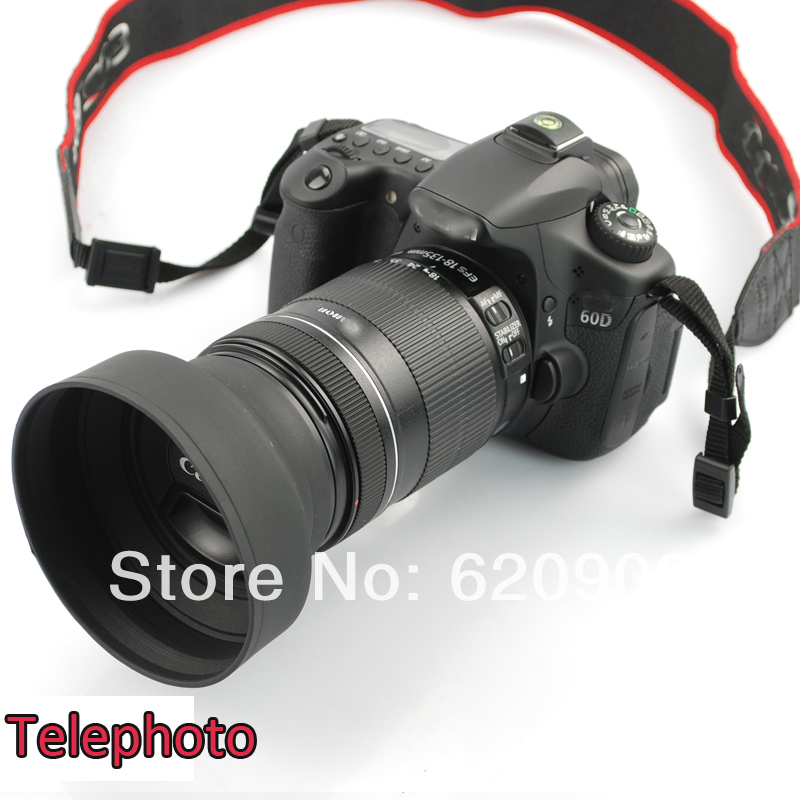 100% guaranteed  10x 72MM Rubber Collapsible Lens Hood for Canon EOS Rebel 15-85mm 18-200mm 28-135mm<br>