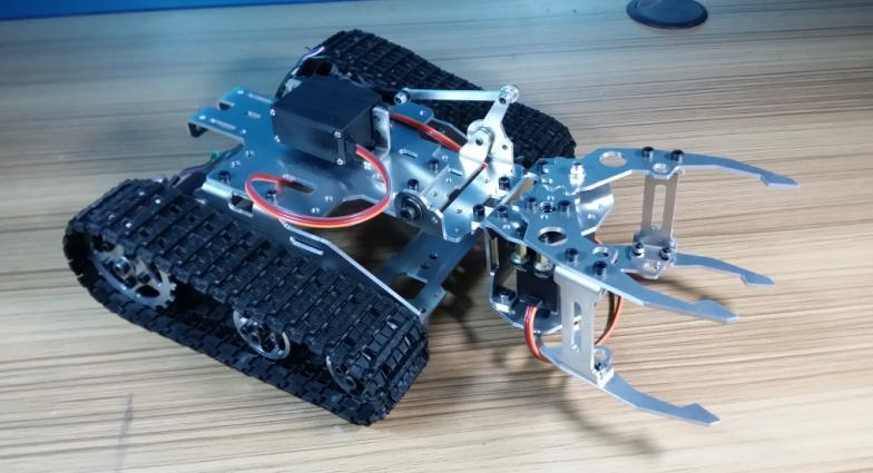 Smart car tracked tank chassis holding tank car robot electronic diy kit(China (Mainland))