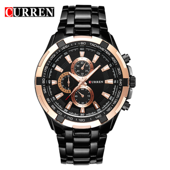 Curren Brand Fashion Steel Watch Men Clock Analog Quartz Dress Wrist Watch Men Military Sport Men Watch Relogio Masculino,W8023