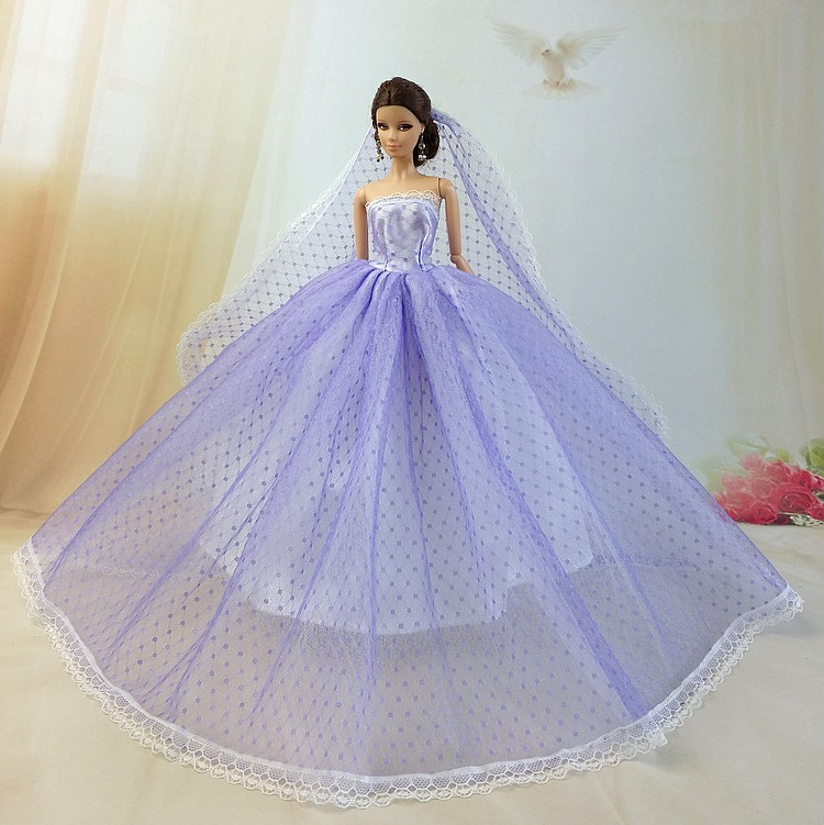 Night time Princess for barbie authentic costume youngster for barbie doll garments princess veil wedding ceremony costume