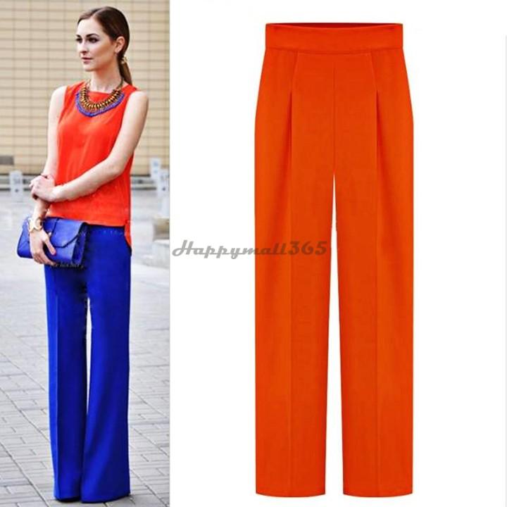womens wide leg trouser pants - Pi Pants