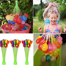 111pcs New 3 bunches/ pack Magic Water Balloons In Bunch Kids Children Outdoor Summer Game Toy Magic Water Balloons 37pcs(China (Mainland))