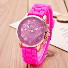 Vogue Jewelry Watch Geneva brand Quartz Lady Dress Watch Female Males Sports Casual Wristwatch silicone Clocks New Style relojes