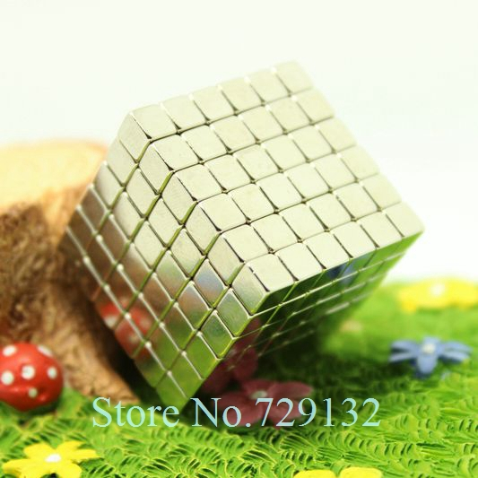 Free shipping 216pcs 5mm buckycube magnetic cube neocube cybercube magcube Packed at round tin box nickel color(China (Mainland))