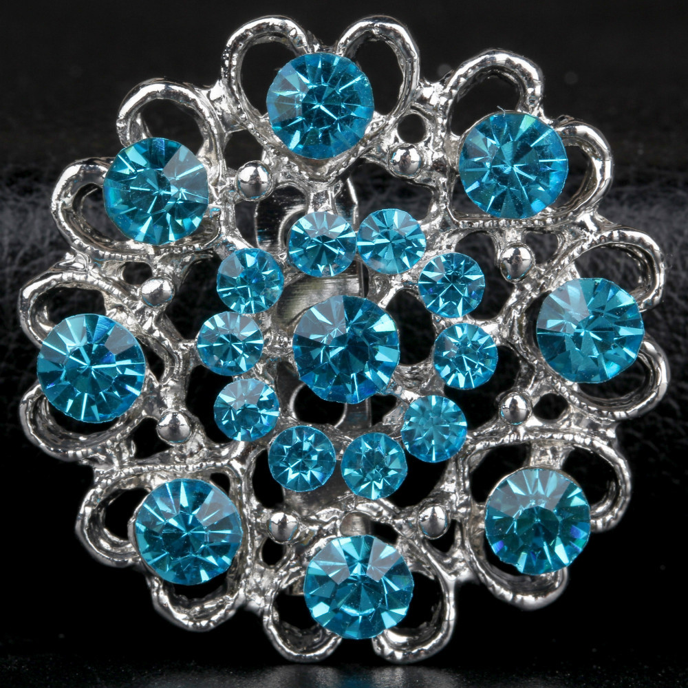 Full $6 pack mailHearts Flower Alloy Brooches wedding decoration(China (Mainland))