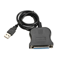 Free Shipping 95cm USB 1 1 to DB25 Female Port Print Converter Cable LPT Black New
