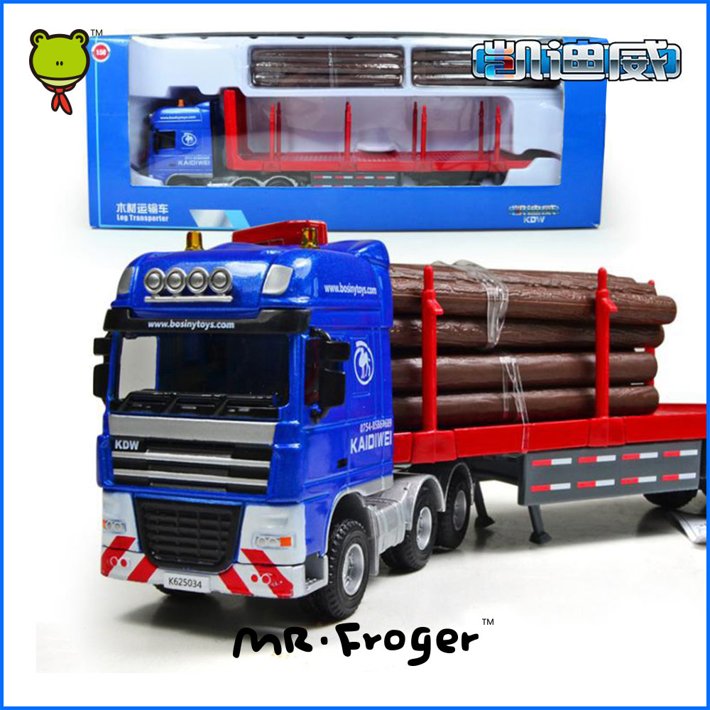Mr.Froger Log Transporter Model alloy car model Refined metal Engineering Construction vehicles truck Decoration Classic Toys(China (Mainland))