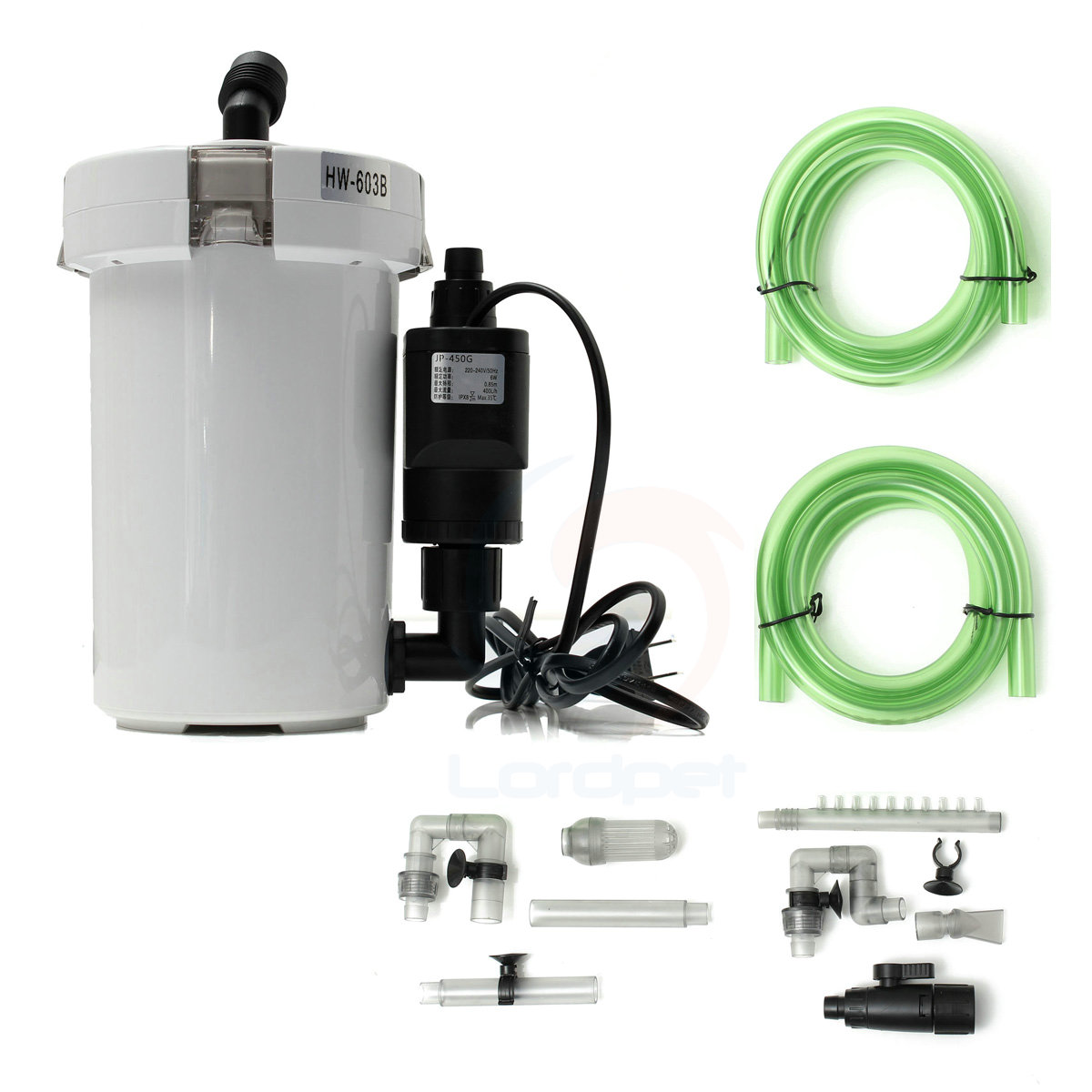 Sunsun brand new hw 603b l 6w external canister filter for Outdoor fish tank filter