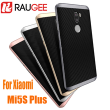 In Stock RAUGEE New Arrive For 5.7inch Xiaomi Mi5S Plus Smart Phone Anti-knock PC+TPU Protective Back Cover Case for mi5s plus(China (Mainland))