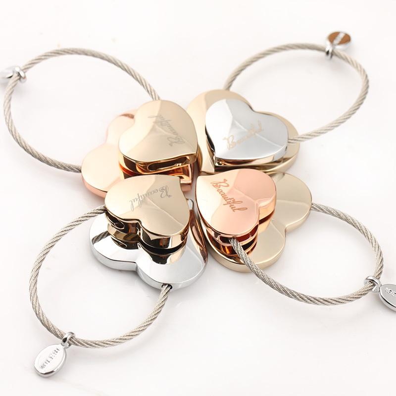 Milesi New 2015 Brand double Heart Lovely couple keychain Trinket Key Holder Novelty Gift innovative Items Bag Pendant K0138(China (Mainland))