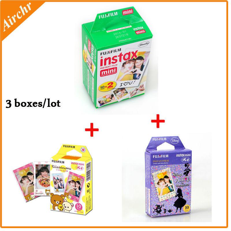 Fujifilm Instax Mini 8 film 3 boxes (40 sheets) Camera Instant mini 7s 25 50s 90 Photo Paper Film White Edge - Quran Factory Store store
