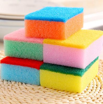 3017 colorful nano cleaning sponge eraser Magic Eraser (Fang Xing)(China (Mainland))