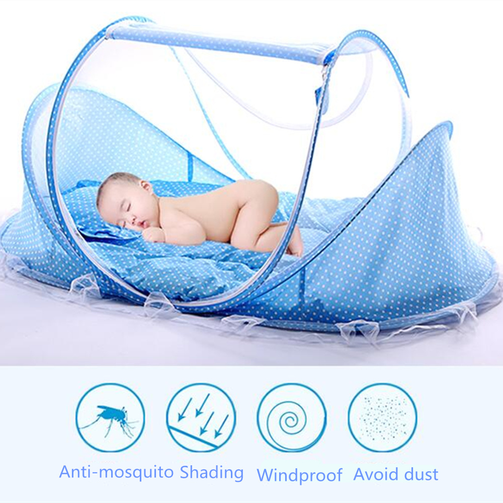 Baby Bedding Pink/blue 2018 New Baby Mosquito Bed Net Infants Sleeping Pad Pillow Yurt Bedspread Mosquito Net Collapsible Portable