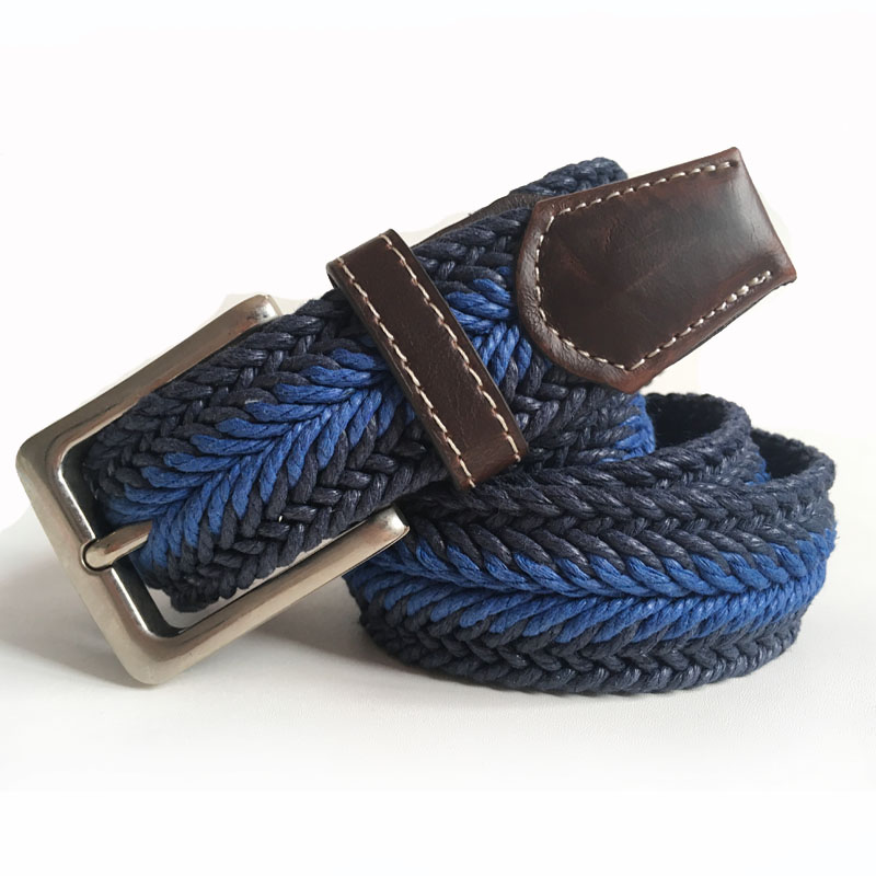 Braided Belt Casual Style Fish Bone Pattern Man Braided Belt Men's Golf Braided Belts With Wax Rope Material Mixed Color(China (Mainland))
