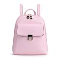 2016 New Fashion Plain Backpack Women Korean Style PU Bag Front Flap Pocket Designer Casual Zipper